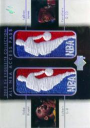 2003-04 Exquisite Collection All-NBA Access Press Patches #BJ Kobe Bryant/LeBron James