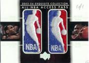 2003-04 Exquisite Collection All-NBA Access Press Patches #JJ LeBron James/Michael Jordan