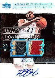 2003-04 Exquisite Collection Emblems of Endorsement #LJ LeBron James