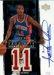 2003-04 Exquisite Collection Number Piece Autographs #IT Isiah Thomas/11
