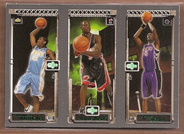 2003-04 Topps Rookie Matrix #AWB Carmelo Anthony 113 RC/Dwyane Wade 115 RC/Chris Bosh 114 RC