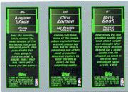2003-04 Topps Rookie Matrix #FKW T.J. Ford 118 RC/Chris Kaman 116 RC/Dwyane Wade 115 RC back image