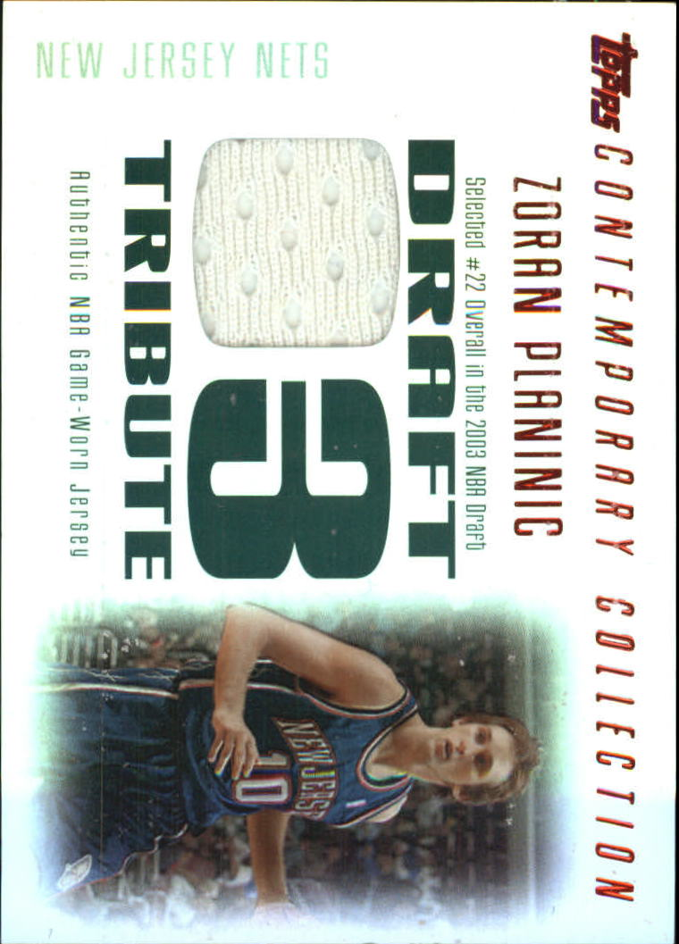 2003-04 Topps Contemporary Collection Draft 03 Tribute Red #ZP Zoran Planinic
