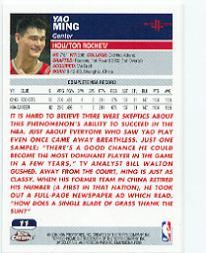 2003-04 Topps Chrome #11 Yao Ming back image