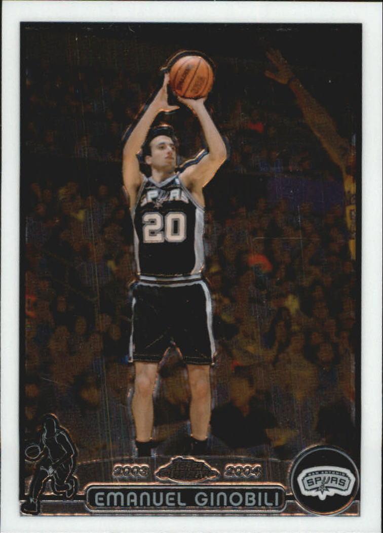 2003 Topps Chrome Basketball Card 2003-04 #95 Manu Ginobili