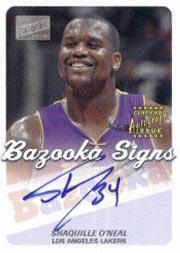 2003-04 Bazooka Signs #SO Shaquille O'Neal C