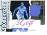 2003-04 SPx #153 Carmelo Anthony JSY AU RC