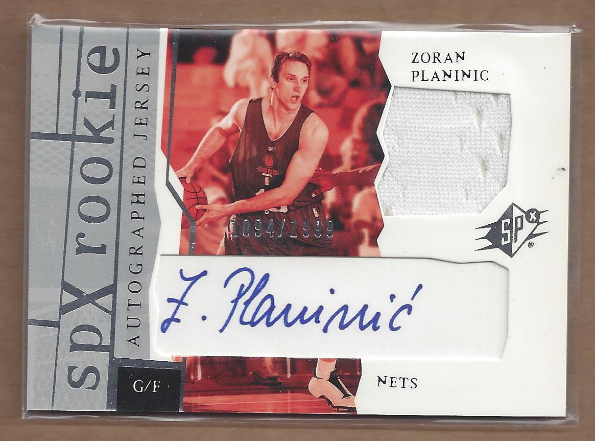 2003-04 SPx #169 Zoran Planinic JSY AU RC