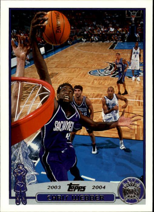 2003-04 Topps #4 Chris Webber