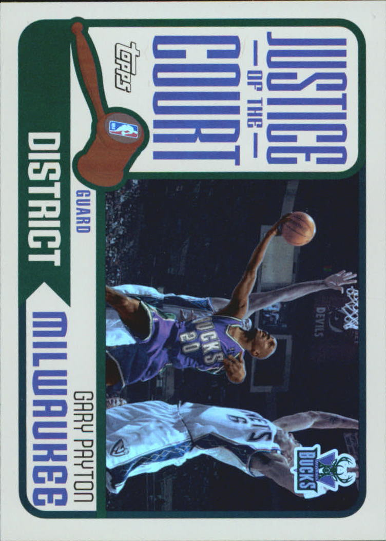 2003-04 Topps Justice of the Court #JC2 Gary Payton