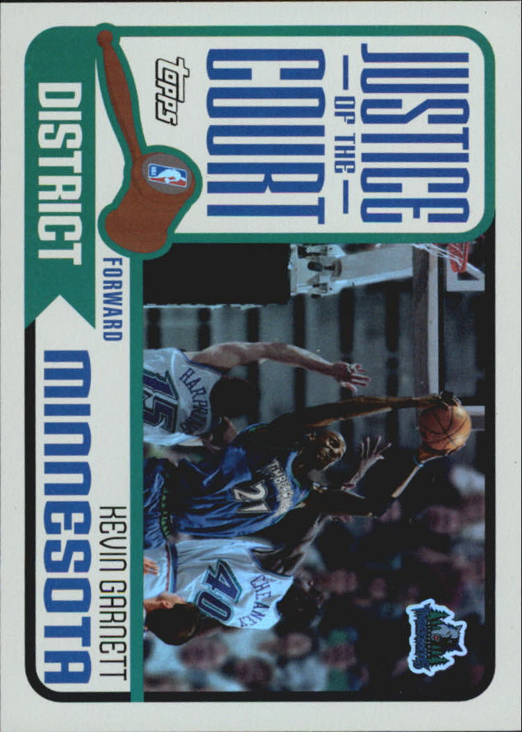 2003-04 Topps Justice of the Court #JC7 Kevin Garnett