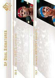 2003-04 SP Authentic Signatures Dual #JAA LeBron James SP/Carmelo Anthony