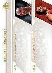 2003-04 SP Authentic Signatures Dual #JJA Michael Jordan SP/LeBron James