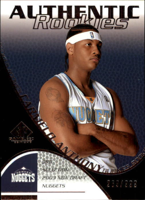 2003-04 SP Game Used #109 Carmelo Anthony RC