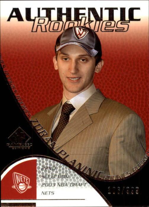 2003-04 SP Game Used #128 Zoran Planinic RC