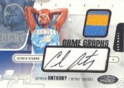 2003-04 Hoops Hot Prospects #95 Carmelo Anthony JSY AU RC