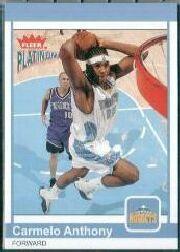 2003-04 Fleer Platinum #194 Carmelo Anthony RC