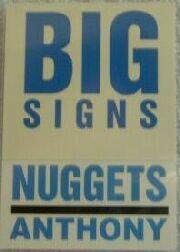 2003-04 Fleer Platinum Big Signs #12 Carmelo Anthony back image