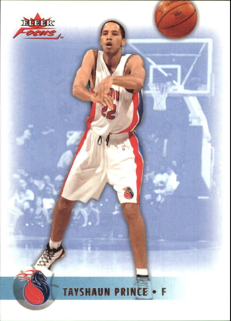 2003-04 Fleer Focus Numbers Decade #95 Tayshaun Prince