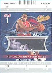 2003-04 Fleer Authentix #104 LeBron James RC