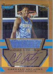 2003-04 Bowman Signature Edition Gold #77 Carmelo Anthony