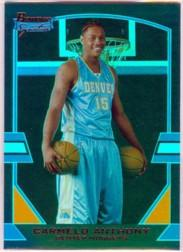 2003-04 Bowman Signature Edition Blue #77 Carmelo Anthony