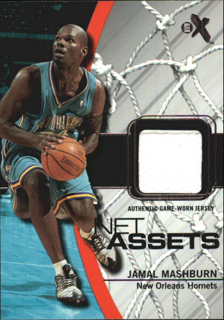 f3cc5490a 2003-04 E-X Net Assets Game-Used  15 Jamal Mashburn