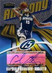 2003-04 Finest Refractors #163 Carmelo Anthony JSY AU
