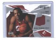 2003-04 Black Diamond Jerseys Double Diamond #BD2LJ LeBron James