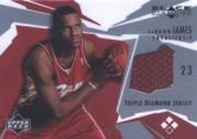 2003-04 Black Diamond Jerseys Triple Diamond #BD3LJ LeBron James