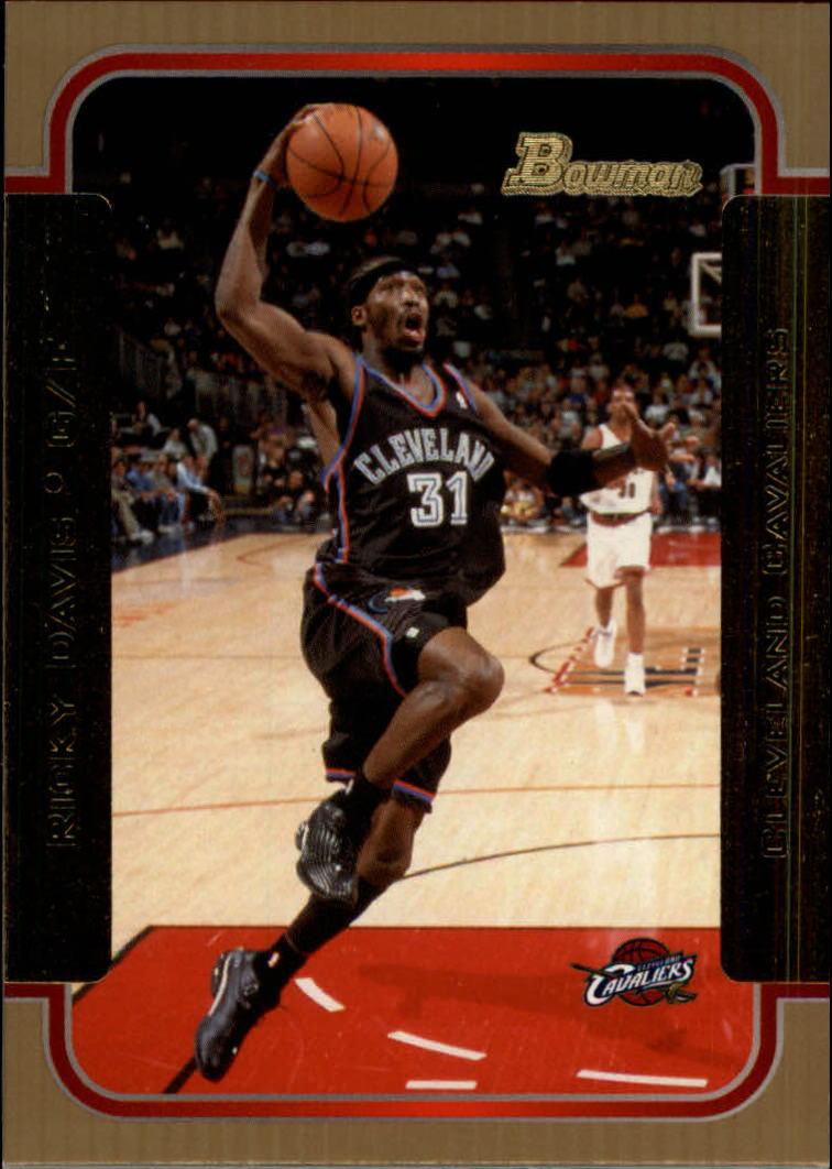2003-04 Bowman Gold #5 Ricky Davis