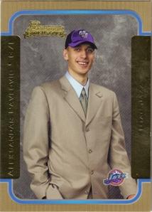2003-04 Bowman Gold #156 Aleksandar Pavlovic