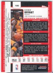 2003-04 Bowman Chrome #100 Kobe Bryant back image