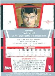 2003-04 Bowman Signature Edition #35 Yao Ming back image