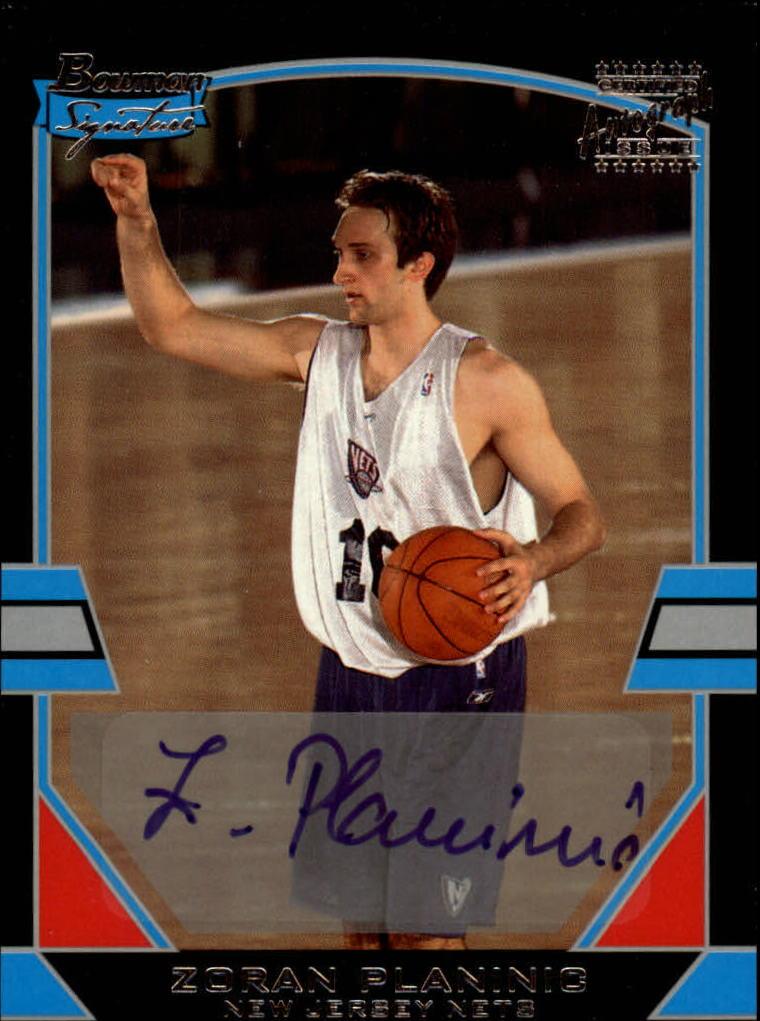 2003-04 Bowman Signature Edition #72 Zoran Planinic AU RC