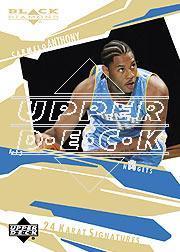 2003-04 Black Diamond 24 Karat Signatures #CA Carmelo Anthony/100