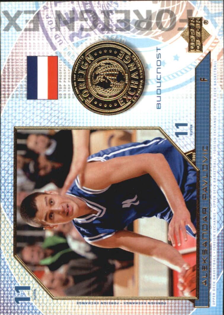 2003-04 UD Top Prospects Foreign Exchange #FE7 Aleksandar Pavlovic