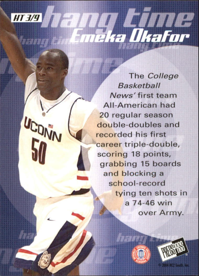 2004 Press Pass Hang Time #3 Emeka Okafor back image