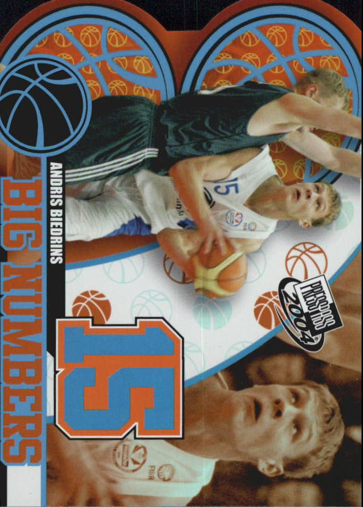 2004 Press Pass Big Numbers #7 Andris Biedrins
