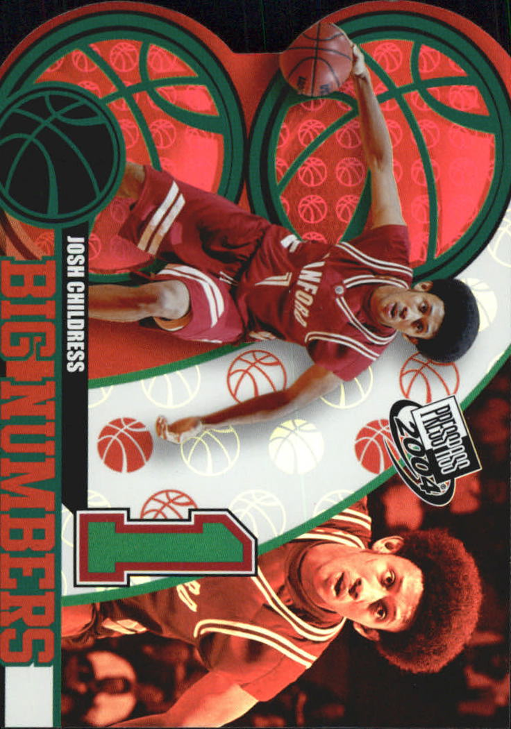 2004 Press Pass Big Numbers #9 Josh Childress