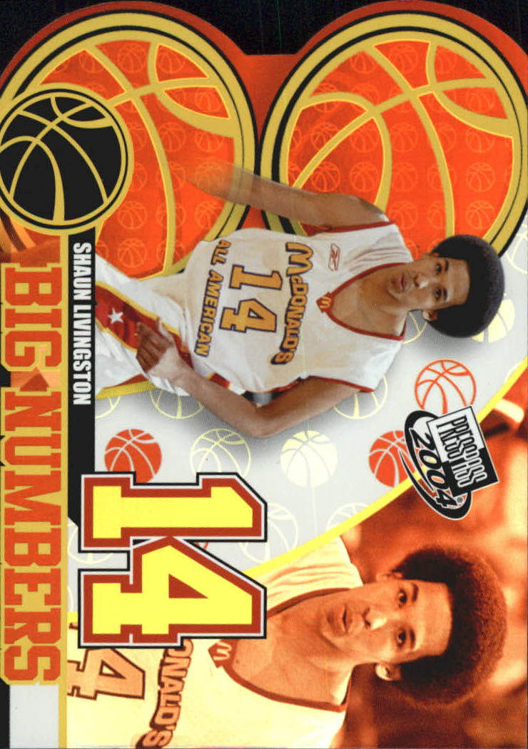 2004 Press Pass Big Numbers #10 Shaun Livingston