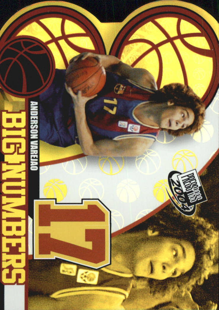 2004 Press Pass Big Numbers #11 Anderson Varejao
