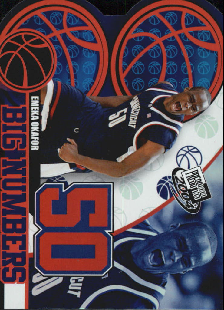 2004 Press Pass Big Numbers #25 Emeka Okafor CL
