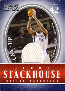 2004-05 Topps Luxury Box Lay-Up Relics #JS Jerry Stackhouse