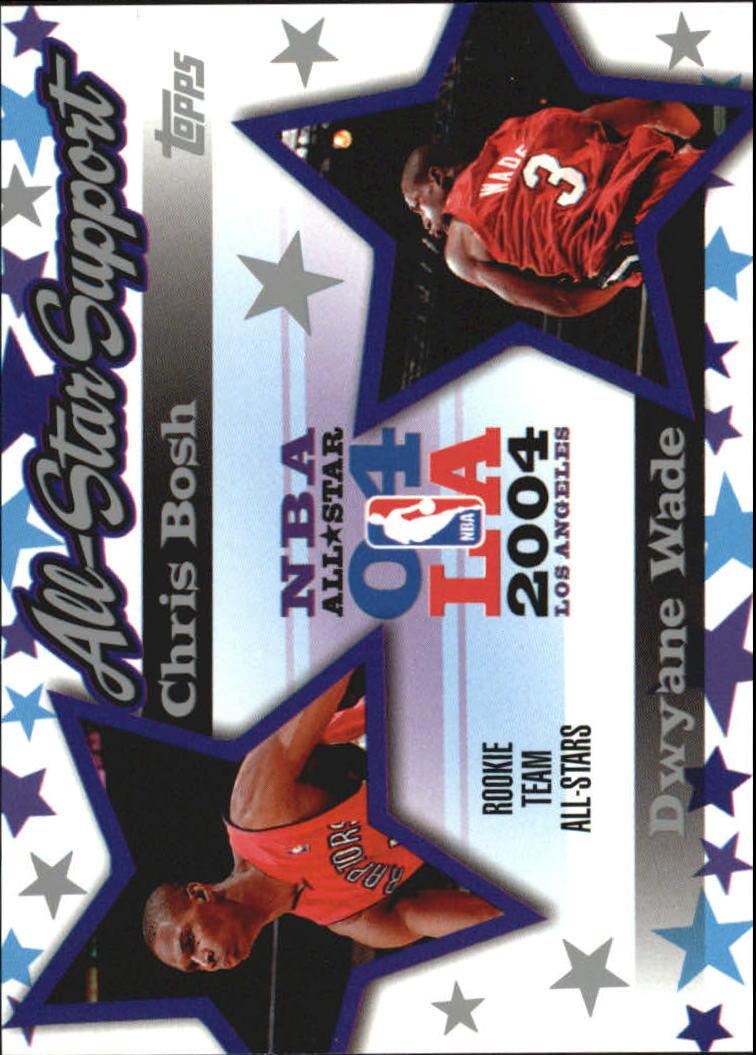 2004-05 Topps All-Star Support #ASBW Chris Bosh/Dwyane Wade