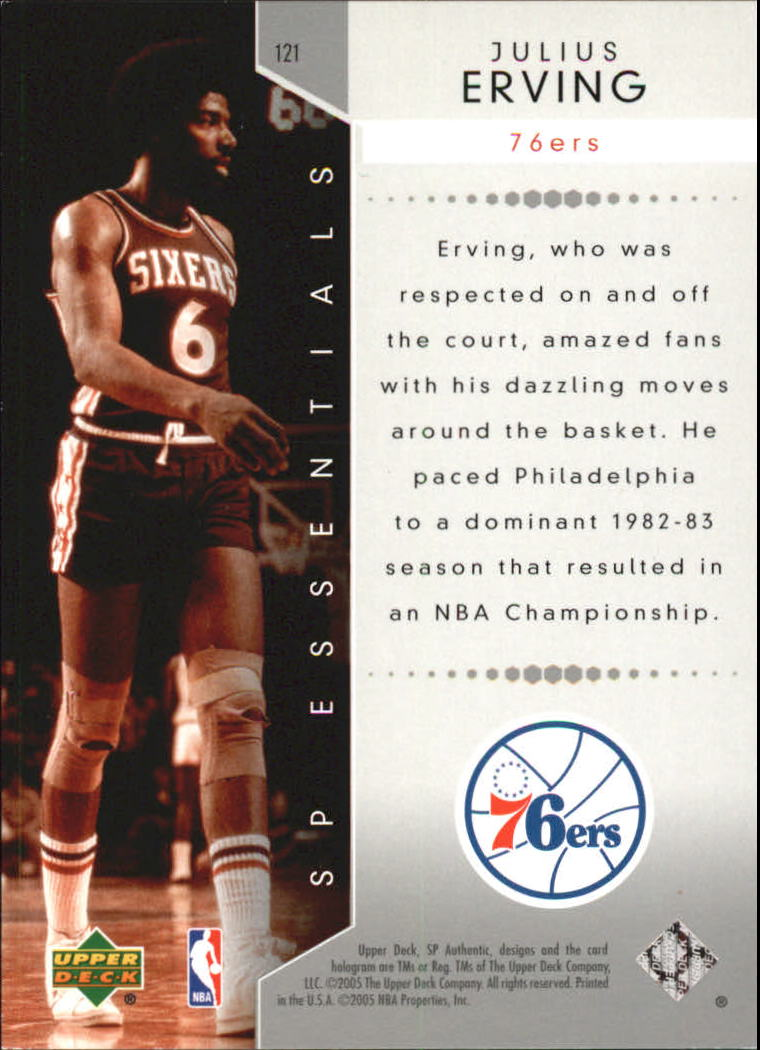 2004-05 SP Authentic #121 Julius Erving ESS back image