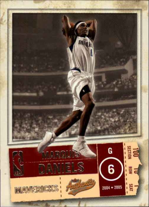2004-05 Fleer Authentix #50 Marquis Daniels