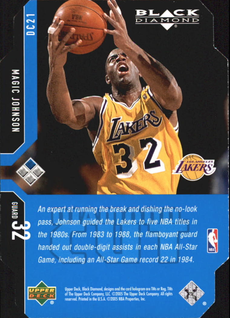 2004-05 Black Diamond Die Cuts #DC21 Magic Johnson back image