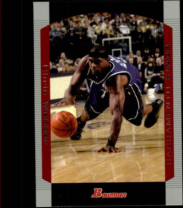 2004-05 Bowman #4 Chris Webber