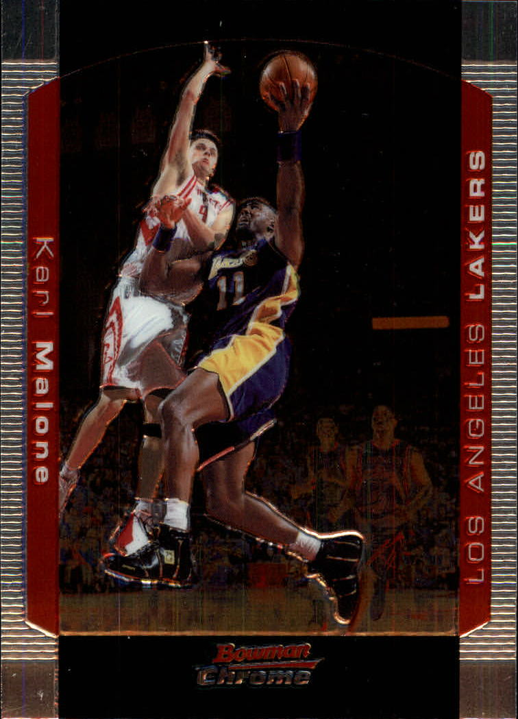 2004-05 Bowman Chrome #99 Karl Malone